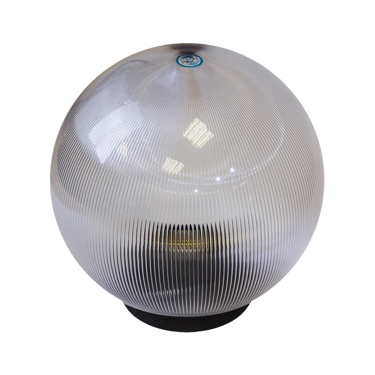 Светильник садово-парковый ЭРА НТУ 02-60-252 шар прозрачный призма d250