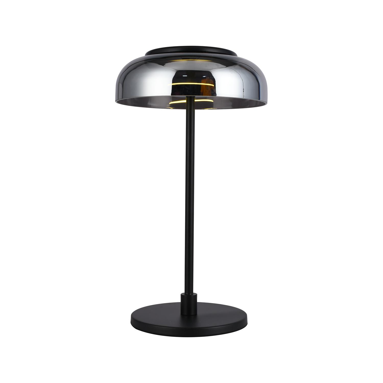 Светильник настольный декоративный Gerhort G91038/1T BK SM LED черный, дымчатый