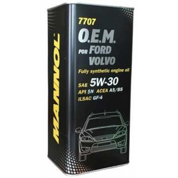 Масло моторное 5w30 Mannol O.E.M. для Ford Volvo 7707 SN/CF 5л