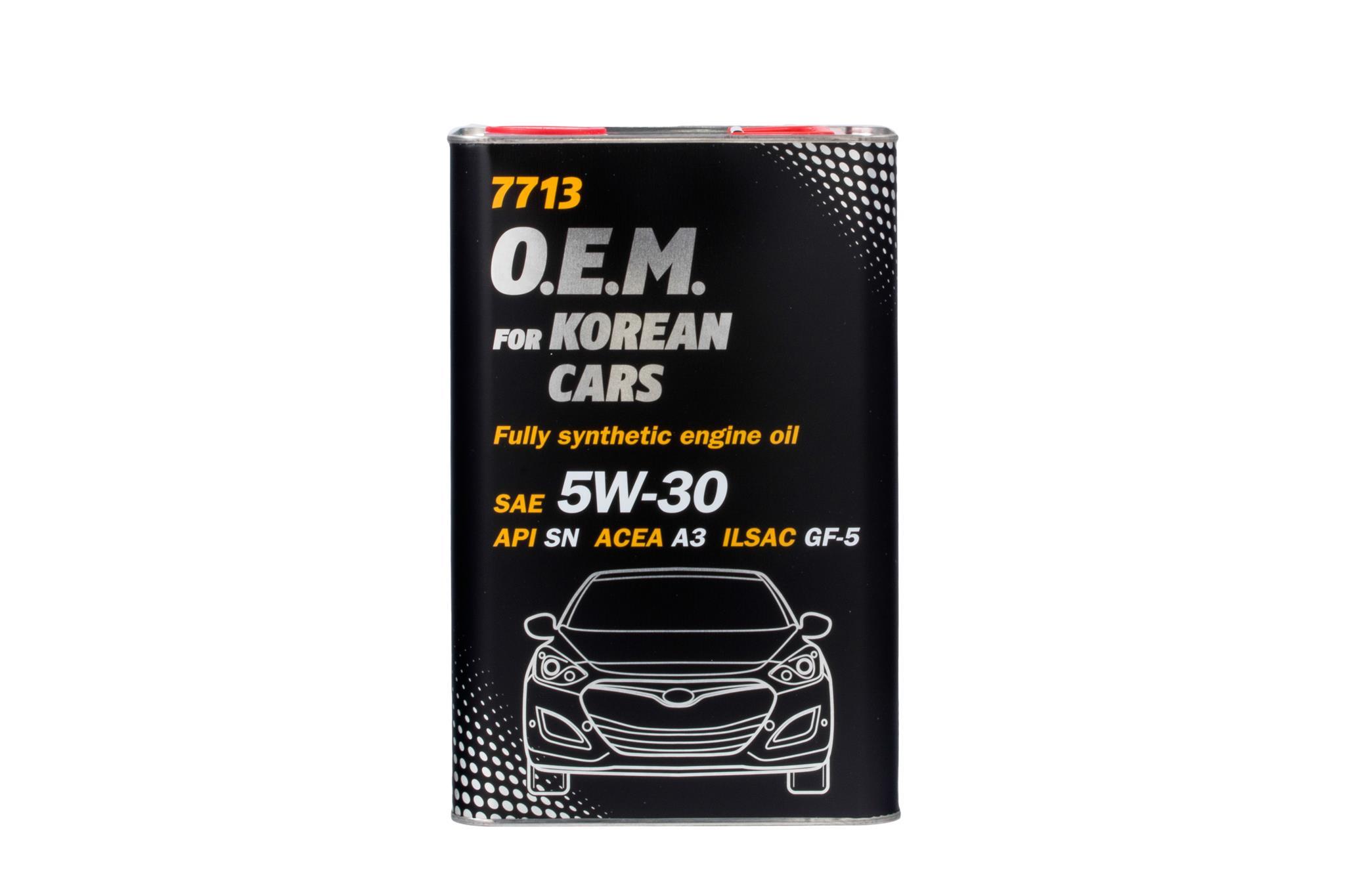 Масло моторное 5w30 Mannol O.E.M. для корейских автомобилей 7713 SN/SM/SL 4л