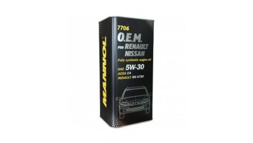 Масло моторное 5w30 Mannol O.E.M. для Renault, Nissan, Infiniti 7706 1л