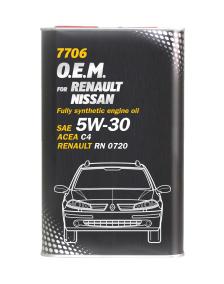 Масло моторное 5w30 Mannol O.E.M. для Renault, Nissan, Infiniti 7706 5л