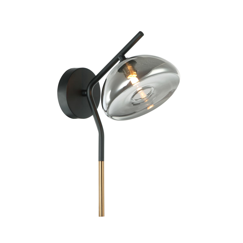 Светильник настенный модерн Gerhort G51215/1wBK+AB SM
