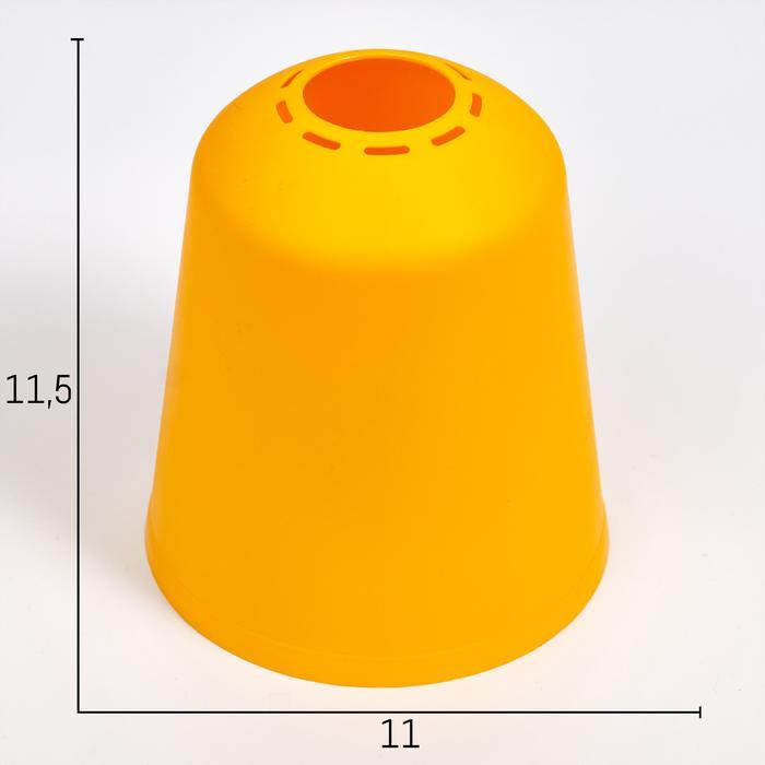 Плафон универсальный Фабрика Успеха Цилиндр 11хх11х12см желтый