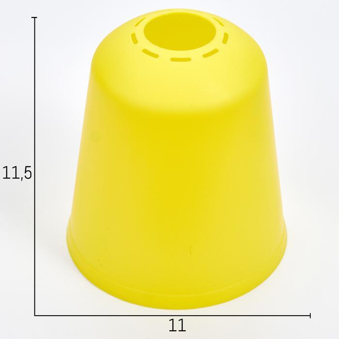 Плафон универсальный Фабрика Успеха Цилиндр 11хх11х12см лимонный