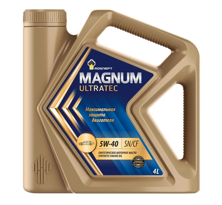 Масло синтетическое РосНефть 5w-40 Magnum Ultratec SN/CF 4л