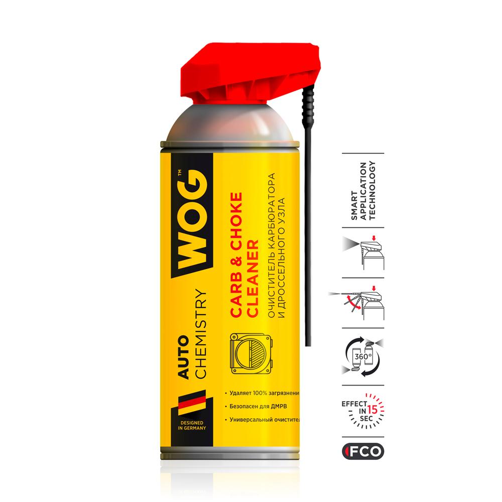 Очиститель карбюратора Wog WGC0340 с профессиональным распылителем 520мл