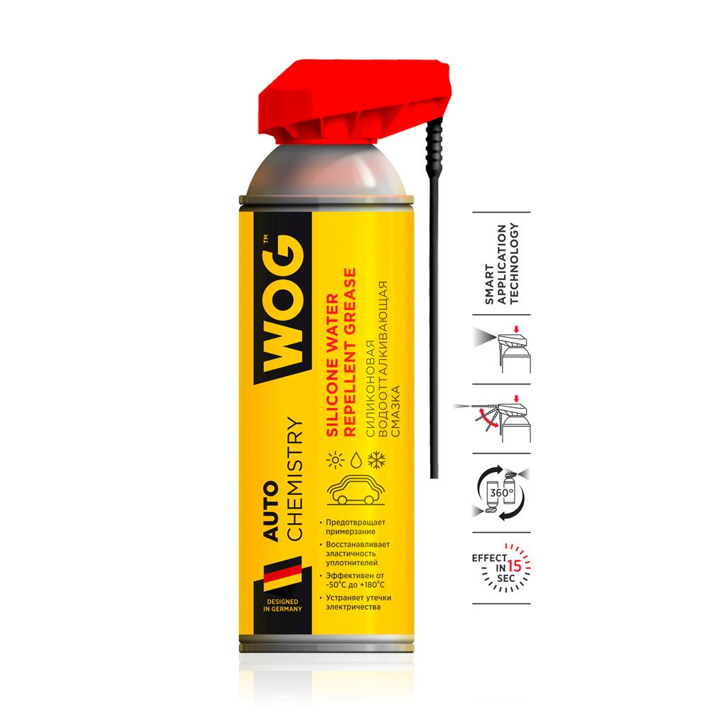 Смазка силиконовая Wog WGC0311 с профессиональным распылителем 335мл