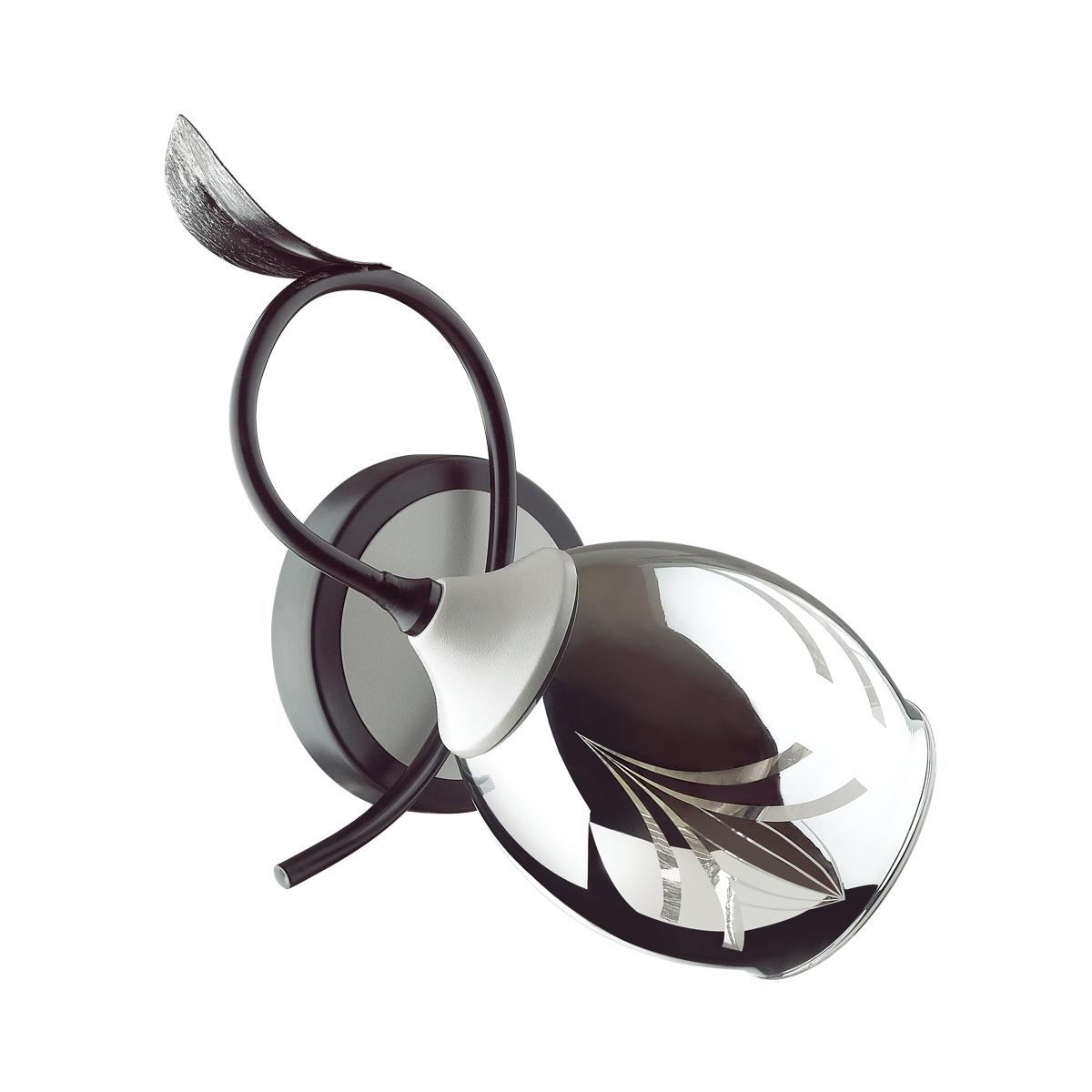 Бра Lumion Melissa 4527/1W E27 60W 220V черный серый
