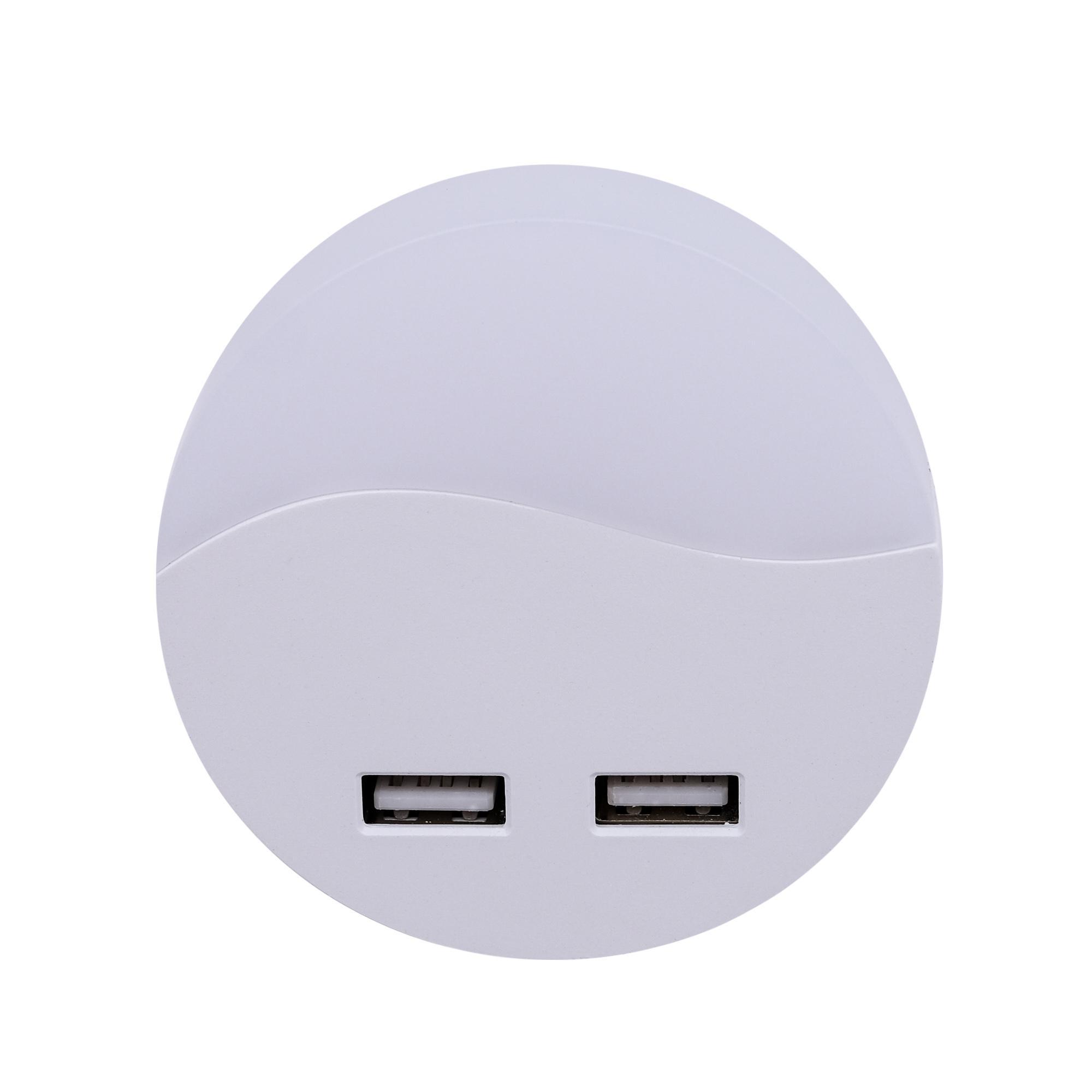 Светильник-ночник Старт Круг 1LED USB с датчиком освещенности
