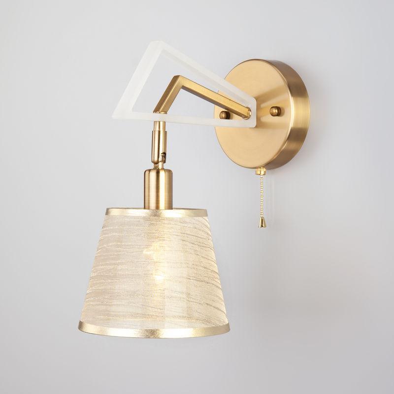 Светильник настенный Eurosvet 60082/1 золотая бронза