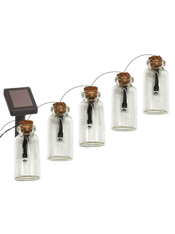 Гирлянда садовая Эра 10 подсвечиваемых светодиодами бутылочек