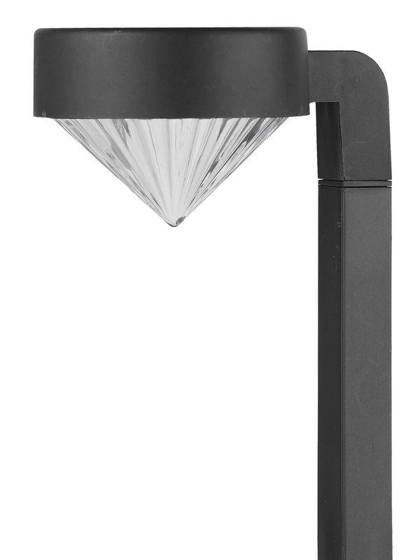 Светильник садовый Эра на солнечной батарее, пластик, черный, 42см