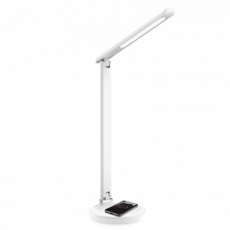 Лампа настольная Ambrella Light DE520 WH LED 3000-6400K 8W белый с беспроводной зарядкой