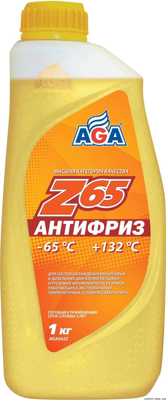 Антифриз 950мл желтый -65С AGA