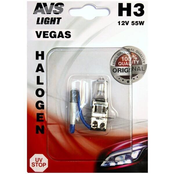 Автолампа AVS Vegas H3 12V 55W 1шт