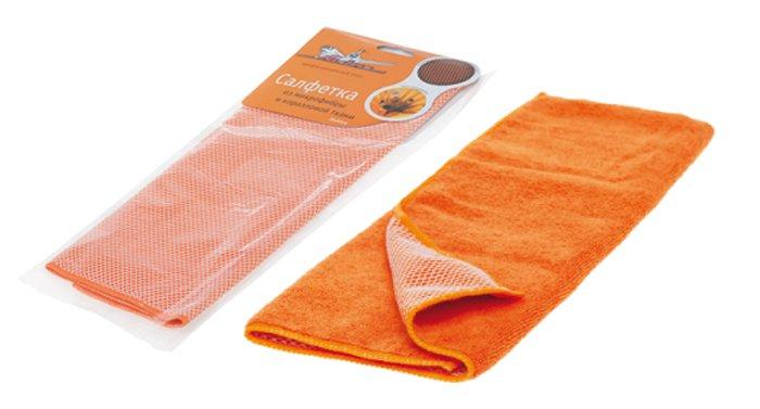 Салфетка Airline микрофибра оранжевая 35х40см