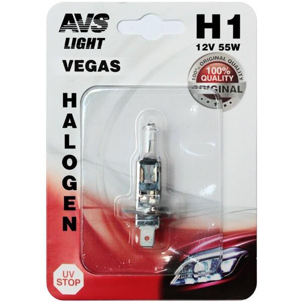 Автолампа AVS Vegas H1 12V 55W 1шт