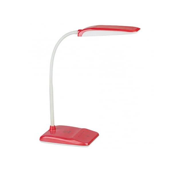 Светильник настольный ЭРА 9Вт Красный Металл/пластик теплый свет