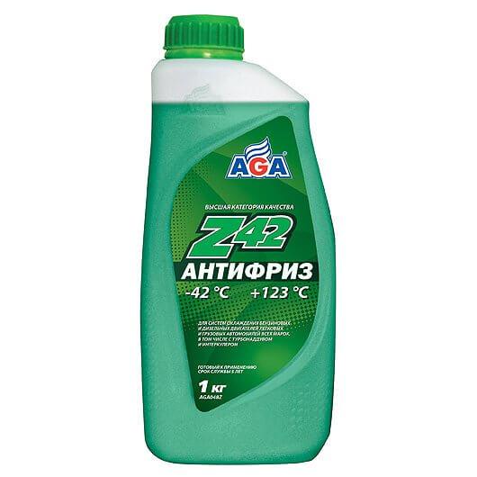 Антифриз 950мл зеленый AGA