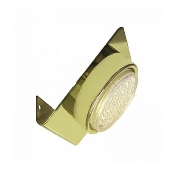 Светильник настенный Ecola 1х13Вт золото GX53