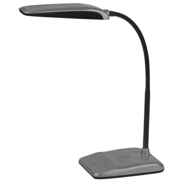 Светильник настольный ЭРА 9Вт Серебро Металл/пластик теплый свет