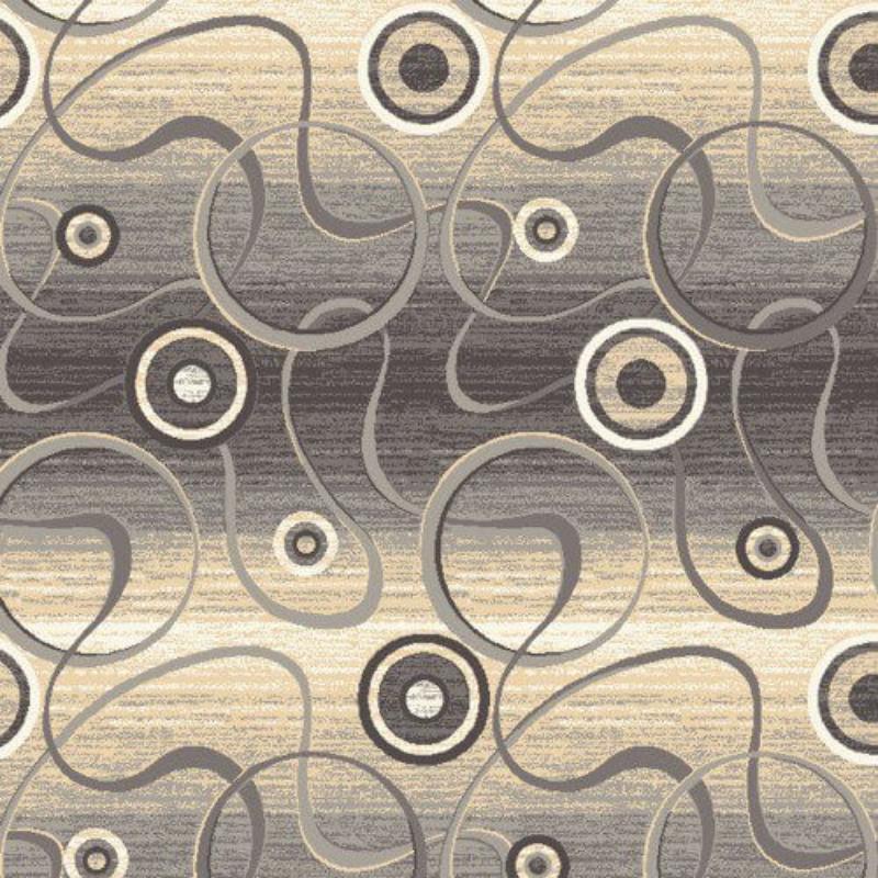 Покрытие ковровое принт Сфера 190 4м серый Нева-Тафт