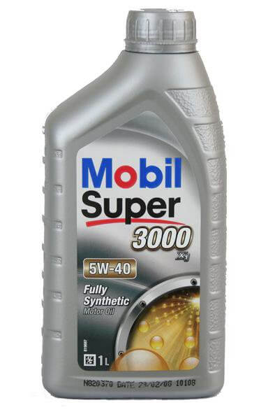 Масло моторное MOBIL SUPER 3000 X1 5W-40, 1л