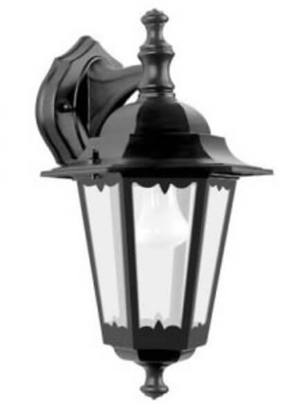 Светильник садово-парковый TDM IP33 6100-02 настенный черный 100Вт E27 6-гранник вниз