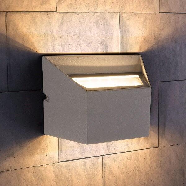 Светильник уличный Elektrostandard 1615 TECHNO LED OFION DOUBLE алмазный серый