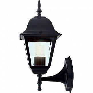 Светильник садово-парковый TDM IP44 НБУ 04-60-001 настенный черный 60Вт Е27 4-гранник вверх пластик