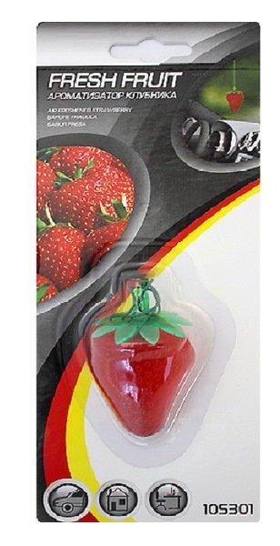 Ароматизатор подвесной 3-D Клубника на основе полимера клубника