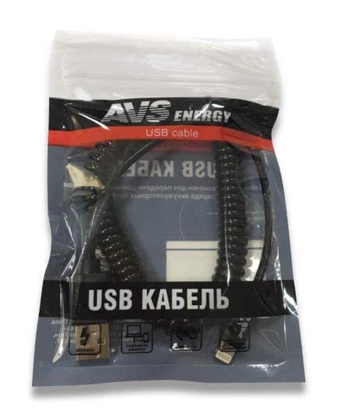 Кабель для iphone 5 (lightning 8-pin) 2м витой AVS IP-52