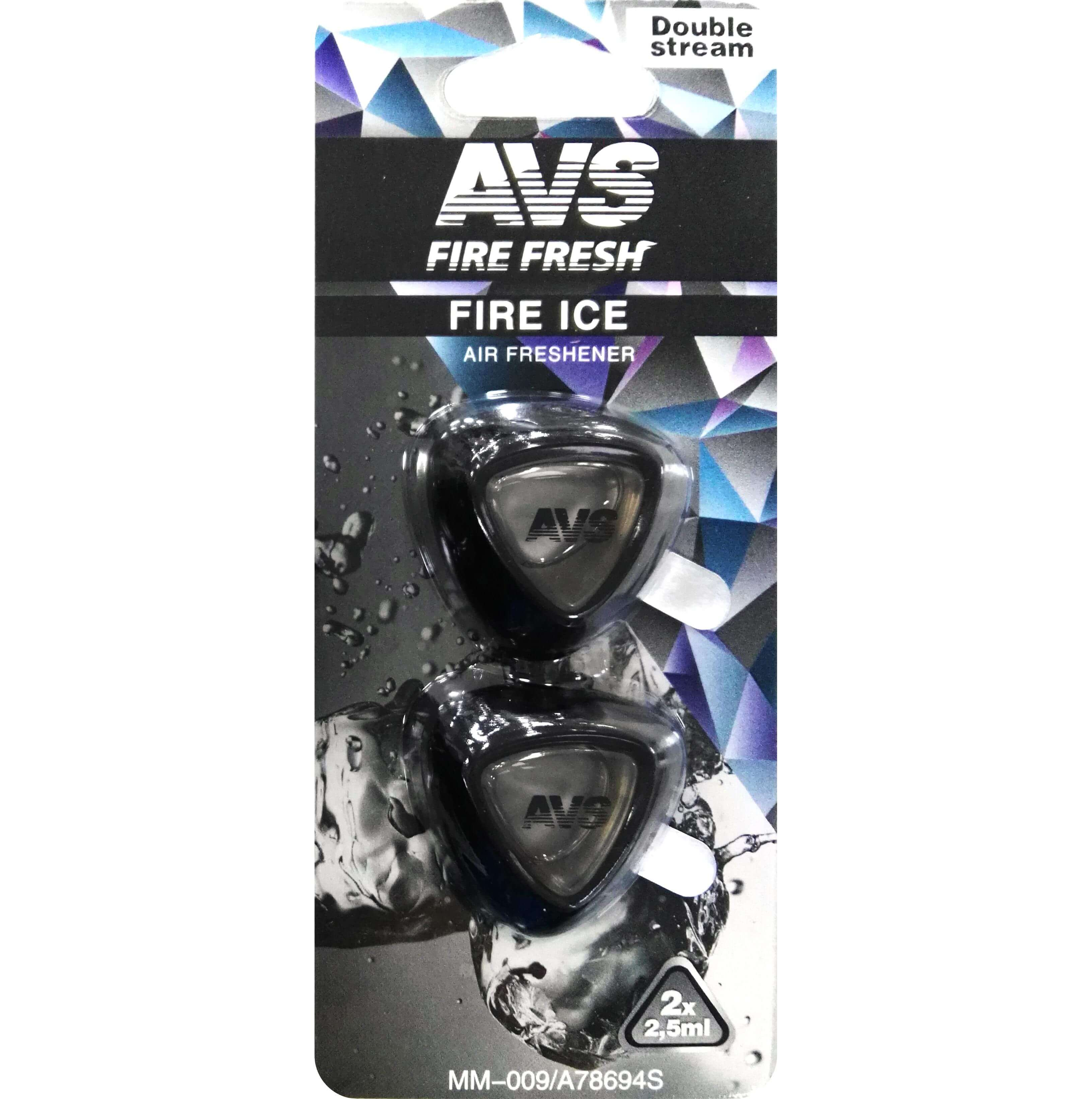 Ароматизатор на дефлектор AVS MM-009 Черный лед
