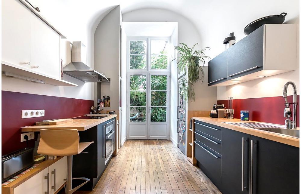 планировка параллельной кухни