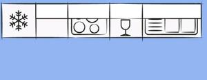 планировка линейной кухни